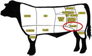 a cow tri tip