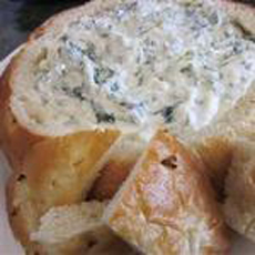 Spinach Dip Bread Bowl