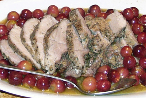 Pork - Roast Pork with Grapes 01-07-2013 (2) Crop