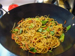 Asian Stir-Fried Spaghetti