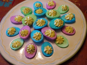 Easter Deviled Eggs