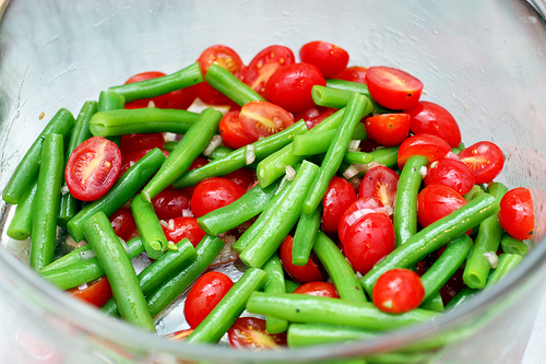 Beautiful Green Bean and Cherry Tomato Salad | Rosemarie's Kitchen
