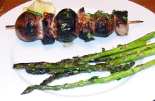 Pork - Grilled Pork with Potato Vesuvio with  Pan-seared Asparagus