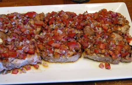 Pork Chops with Italian Relish (6)