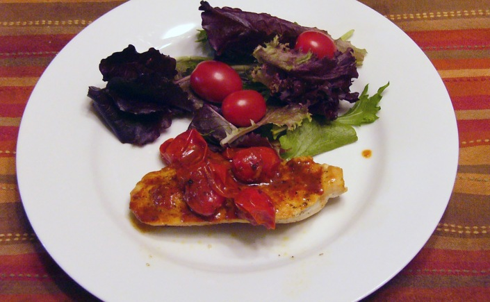 Chicken Breast with Tomato-Herb Pan Sauce