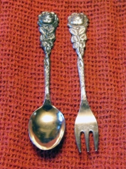 Vintage Dessert Spoon & Sea Food Fork