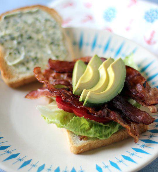 California Avocado BLT Sandwich with Basil Mayonnaise | Rosemarie's ...