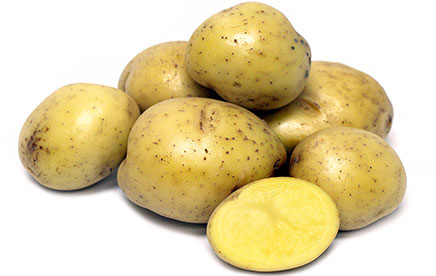 Wash and slice Yukon Gold Potatoes. No need to peel - the peel adds flavor to the dish.
