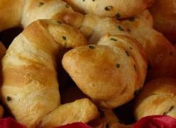 Buttery-Chive Crescents