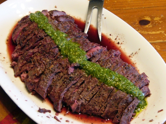 Grilled Flat Iron Steak with chimichurri Sauce (11)