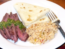 Grilled Flat Iron Steak with chimichurri Sauce (13)