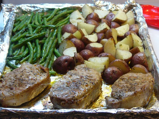 Baked Pork Chops and Vegetable One-Pan Supper (3)