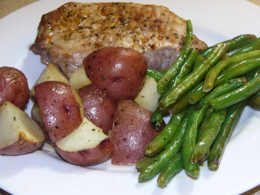 Baked Pork Chops and Vegetable One-Pan Supper (5)