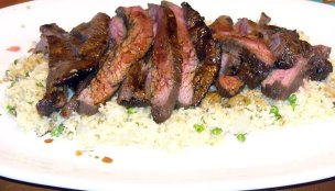 Teriyaki Flank Steak Over Vegetable Fried Rice (10)