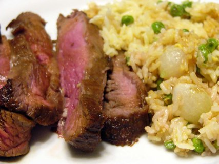 Teriyaki Flank Steak Over Vegetable Fried Rice (11)