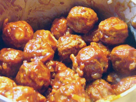 Bacon Onion Barbecue Meatball (3)