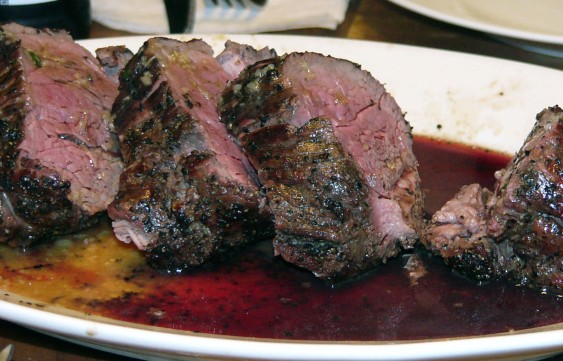 Peppered Grilled Beef Tenderloin with a Port Sauce (5)