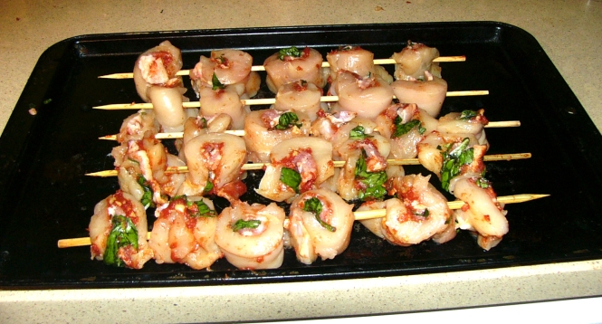 07 Place on skewers